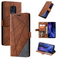 Voor Xiaomi Redmi 10X Pro 5G / 10X 5G-skin voel horizontale flip lederen hoes met Holder & Card Slots & Wallet & Photo Frame(Brown)