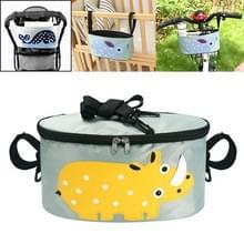 Car Baby Storage Bag Electromobile Fiets kar opbergtas opknoping tas met cover (SKU-05-Rhinoceros)