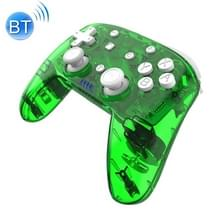 YS06 voor Switch Pro draadloze Bluetooth GamePad Game Handle Controller  kleur:transparant groen