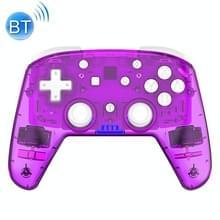 YS06 voor Switch Pro draadloze Bluetooth GamePad GameHandgreepcontroller  kleur:transparant paars