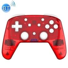 YS06 voor Switch Pro draadloze Bluetooth GamePad Game Handle Controller  Kleur:Transparant Rood