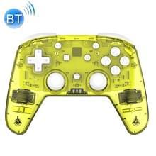 YS06 voor Switch Pro draadloze Bluetooth GamePad Game Handle Controller  kleur:transparant geel