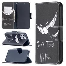 Voor iPhone 12 Max / 12 Pro Gekleurd tekenpatroon Horizontaal Flip Lederen hoesje met Houder & Kaart Slots & Wallet (Smirk)