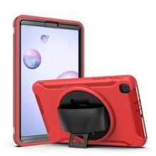 Voor Samsung Galaxy SM-T307 360 Graden Rotatie PC+TPU Beschermhoes met houder & handbandje & pensleuf(rood)
