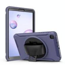 Voor Samsung Galaxy SM-T307 360 Graden Rotatie PC+TPU Beschermhoes met Holder & Hand Strap & Pen Slot(Blauw)