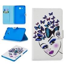 Voor Samsung Galaxy Tab A7.0 (2016) T280 Stitching Horizontale Flip Lederen case met Holder & Card Slots (Butterfly Girl)