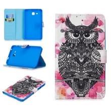 Voor Samsung Galaxy Tab A7.0 (2016) T280 Stitching Horizontale Flip Lederen behuizing met Holder & Card Slots(Owl)