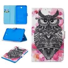 Voor Samsung Galaxy Tab 4 8.0 T330 Stitching Horizontale Flip Lederen case met Holder & Card Slots & Sleep / Wake-up Functie(Owl)