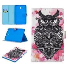Voor Samsung Galaxy Tab E 8.0 T375 Stitching Horizontale Flip Lederen behuizing met Holder & Card Slots (Owl)