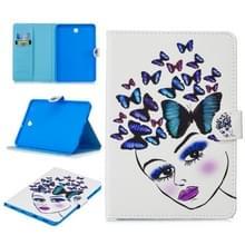 Voor Samsung Galaxy Tab S2 8.0 T715 Stitching Horizontale Flip Lederen case met Holder & Card Slots & Sleep / Wake-up Functie(Butterfly Girl)