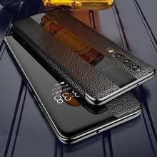 Voor Huawei P20 Genuine Leather Smart Flip Protective Case(Zwart)