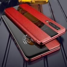Voor Huawei P20 Genuine Leather Smart Flip Protective Case(Rood)