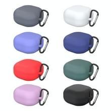 Voor Samsung Galaxy Buds Live Solid Color Anti-fall Earphone Beschermhoes met Hook(Paars)
