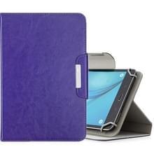 Voor 8 inch Tablets Universal Solid Color Horizontale Flip Lederen Case met KaartSlots & Wallet(Paars)
