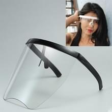 Anti-Speeksel Splash Anti-Spitting Zonnebrandcrème zonnebril geïntegreerd anti-splash schild (Zwart frame transparante len)