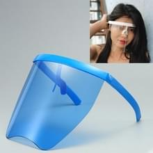 Anti-Speeksel Splash Anti-Spitting Zonnebrandcrème zonnebril geïntegreerd anti-splash schild (Blauw frame blauwe lens)