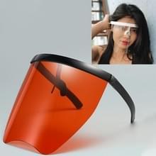 Anti-Speeksel Splash Anti-Spitting Zonnebrandcrème zonnebril geïntegreerd anti-splash schild (Zwart frame rode lens)