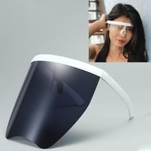 Anti-Speeksel Splash Anti-Spitting Zonnebrandcrème zonnebril geïntegreerd anti-splash schild (White Frame Grijze Lens)