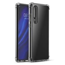 Voor Huawei P30 iPAKY Airbag Shockproof Clear TPU + PC Case(Transparant)