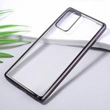 Voor Samsung Galaxy Note20 Ultra-thin Plating TPU Protective Soft Case(Zwart)