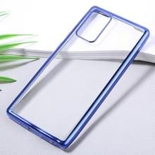 Voor Samsung Galaxy Note20 Ultra-thin Plating TPU Protective Soft Case(Blue)