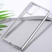 Voor Samsung Galaxy Note20 Ultra-thin Plating TPU Protective Soft Case(Zilver)