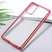 Voor Samsung Galaxy Note20 Ultra-thin Plating TPU Protective Soft Case(Red)