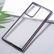 Voor Samsung Galaxy Note20 Ultra Ultra Ultra-thin Plating TPU Protective Soft Case(Black)