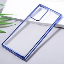 Voor Samsung Galaxy Note20 Ultra Ultra Ultra-thin Plating TPU Protective Soft Case(Blue)