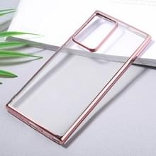 Voor Samsung Galaxy Note20 Ultra Ultra Ultra-thin Plating TPU Protective Soft Case (Rose Gold)