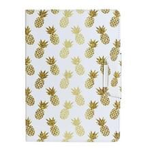 Voor iPad 4 / 3 / 2 Geschilderd patroon horizontale flip lederen behuizing met houder (Ananas)