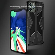 Voor iPhone 12 Pro / 12 Max Butterfly Shadow Shockproof Full Coverage TPU Soft case (Navy Blue)