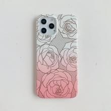 Voor iPhone 12 Max / 12 Pro Verguld patroon Zachte TPU beschermhoes(Rose)