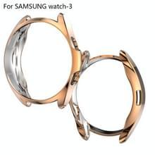 Voor Samsung Galaxy Watch 3 41mm Electroplating Hollow Half-pack TPU Beschermhoes (Rose Gold)