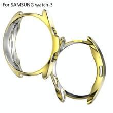 Voor Samsung Galaxy Watch 3 41mm Electroplating Hollow Half-pack TPU Beschermhoes (Golden)