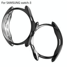 Voor Samsung Galaxy Watch 3 41mm Electroplating Hollow Half-pack TPU Beschermhoes(Zwart)