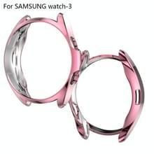 Voor Samsung Galaxy Watch 3 45mm Electroplating Hollow Half-pack TPU Beschermhoes (Fink)
