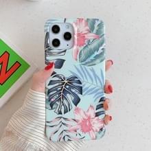 Voor iPhone 12 Max / 12 Pro Laser Patroon Zachte TPU beschermhoes (Rode bloem)