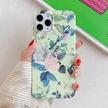 Voor iPhone 12 Max / 12 Pro Laser Patroon Zachte TPU Beschermhoes(Rose)