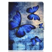 Voor iPad Air 2020 10.9 Elektrisch geperst gekleurde tekening horizontale flip lederen kast met Holder & Card Slots & Sleep / Wake-up Function(Retro Butterfly)