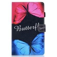 Voor Samsung Galaxy Tab A7 10.4 2020 T500 Gekleurde tekenstiksels horizontale flip lederen behuizing  met Holder & Card Slots (Butterfly Love)