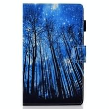 Voor Samsung Galaxy Tab A7 10.4 2020 T500 Horizontale TPU Painted Flat Leather Case Anti-slip Strip met Pen Cover & Card Slot & Holder(Forest)