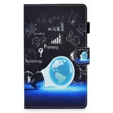 Voor Samsung Galaxy Tab A7 10.4 2020 T500 Gekleurde tekenstiksels horizontale flip lederen behuizing met houder & kaartslots (lamplamp)
