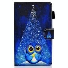 Voor Samsung Galaxy Tab A7 10.4 2020 T500 Gekleurde tekenstiksels horizontale flip lederen kast met houder & kaartslots (Night Sky Owl)