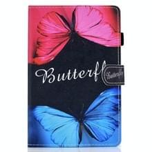 Voor Samsung Galaxy Tab S7 T870 Gekleurde tekening horizontale flip lederen kast met Holder & Card Slots & Pen Slot & Sleep / Wake-up Functie(Butterfly Love)