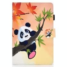 Voor Samsung Galaxy Tab S7 T870 Gekleurde tekening horizontale flip lederen kast met Holder & Card Slots & Pen Slot & Sleep / Wake-up Functie(Bamboo Bear)