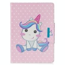 Voor Samsung Galaxy Tab 4 10.1 / T530 Painted Pattern Horizontale Flip Lederen case met Holder & Card Slots & Wallet(Unicorn)