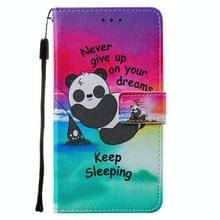 Voor iPod Touch 7 / 6 / 5 Cross Texture Painting Pattern Horizontaal Flip Lederen Hoesje met Holder & Card Slots & Wallet & Lanyard(Sleeping Baby)