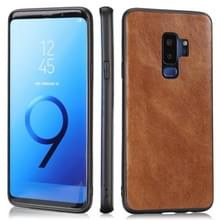 Voor Samsung Galaxy S9 Plus Crazy Horse Textured Calfskin PU+PC+TPU Case(Brown)