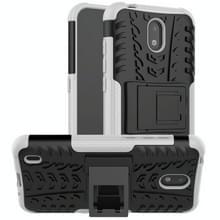 Voor Nokia 1.3-bandenstructuur schokbestendige TPU + pc-beschermhoes met houder(wit)
